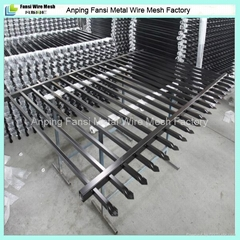 1.8mx2.4m spear top security steel fence(40mm rail, 25mm picket)