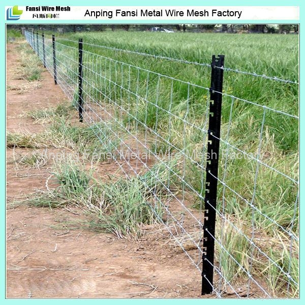 8/90/15 100m roll heavy galvanised wire fencing with star ...