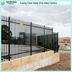 2.1m(H)x2.4m(W) spear top security steel garrison fence supplier