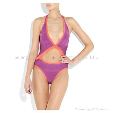 2015 hot sale sexy bandage bikini bandage dress swimwear beach wear