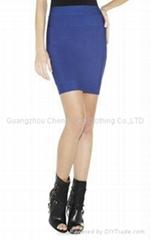 blue shirt bandage dress manufactory short dress