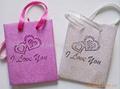 PP glitter pouch shopping bag