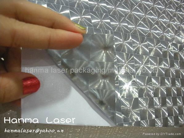 3D self adhesive plastic film/photo protection plastic film 1