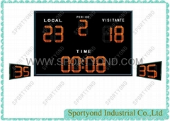 Water Polo Electronic Scoreboard with Digital shot clocks