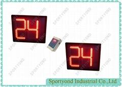 Electronic digital 24 seconds shot clock for basketball match