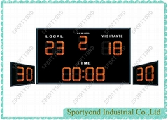 Red Led Scoreboard and Shot Timer for Water Polo Sports