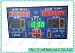 Electronic Basketball Scoreboard Device With Digital Basketball Playroom Scorer