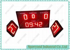 Wireless Controller Water Polo Scoreboard With 30 Sec Shot Clock