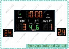 Wireless Electronic Digital Basketball Scoreboard for Basket Field