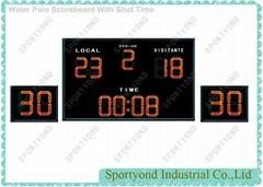 Electronic Water polo Scoreboard With Shot Clock In Swiming Pool Field