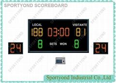 LED Digital Electronic Basketball Scoreboard Indicators Score Clocks