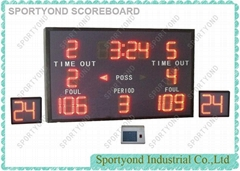 Two 24 Seconds Counter for Electronic Basketball Scoreboard Equipment