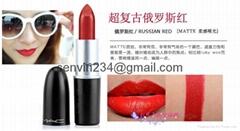 MAC lipstick Ruby Woo Chili Taupe Dare you See Sheer
