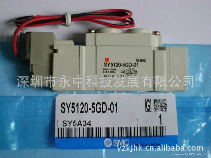 SY3120-5LZD-M5日本SMC原装全新2位5通电磁阀 1