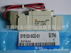 SY3120-5LZD-M5日本SMC原裝全新2位5通電磁閥