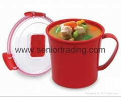 Microwave Soup Mug Microwavable Travel Mugs with Handle