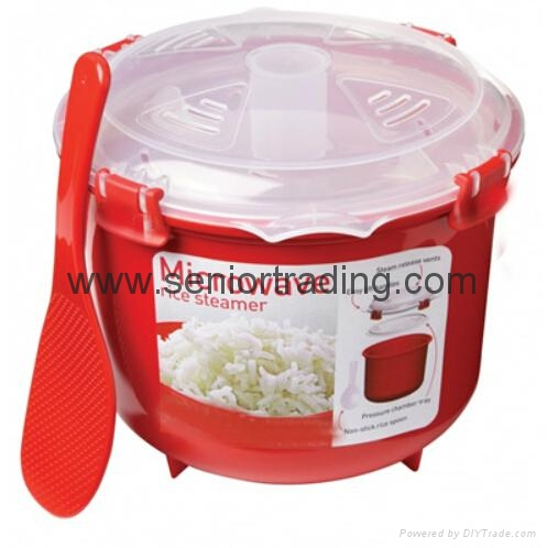 Plastic Rice Steamer Microwave Rice Cooker 2