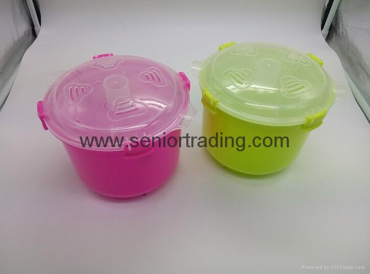 Plastic Rice Steamer Microwave Rice Cooker 3