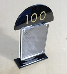 Customized Acrylic Menu stand/display, acrylic table number,