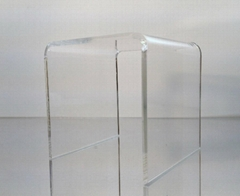 "Clear Acrylic Square Riser Display Stand 8 x 8 x 8""Clear Acrylic Square Riser Di"