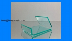 GLASS LOOK A LIKE Clear Acrylic Display Holder Stand for Cell Phones / iPod I10