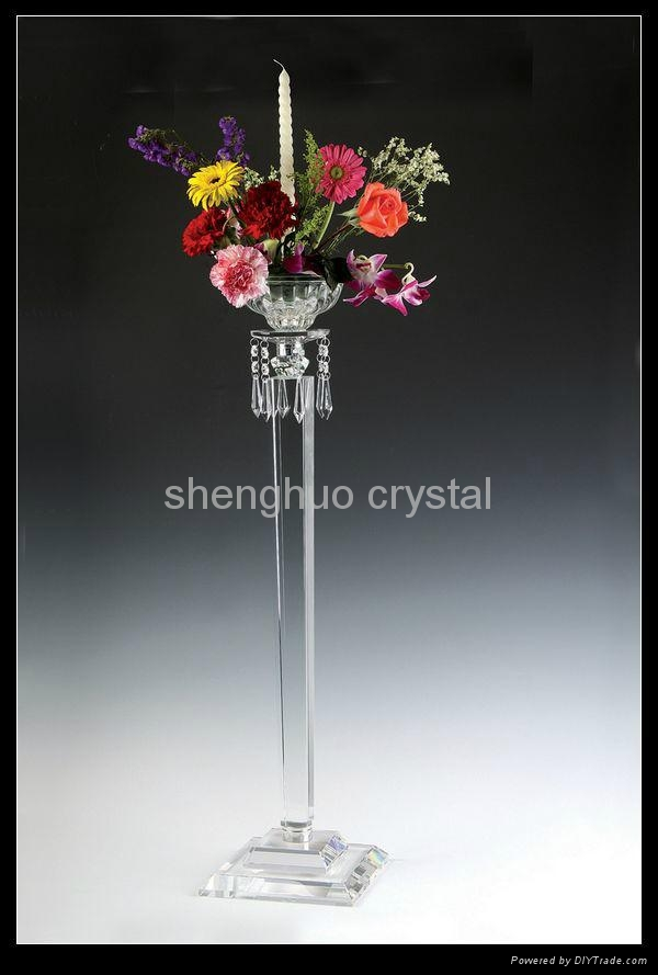 Tall Wedding Crystal Flower Stand SH 062 1 Shenghuo China Manufacturer