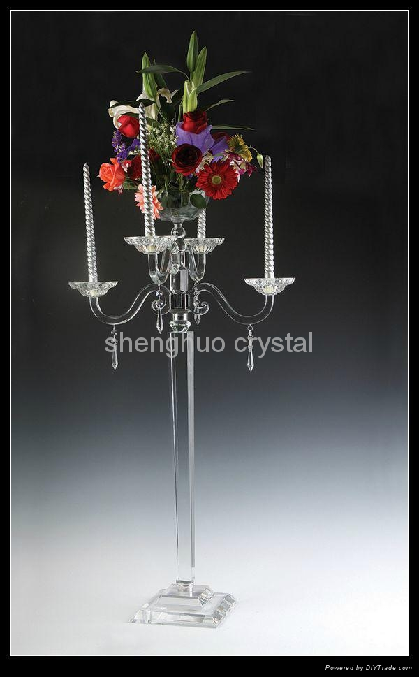 Diy Tall Centerpiece Stand : Tall wedding crystal flower stand sh shenghuo