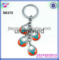 whosale metal bracelet coil keychain for
