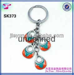 whosale metal bracelet coil keychain for promotional