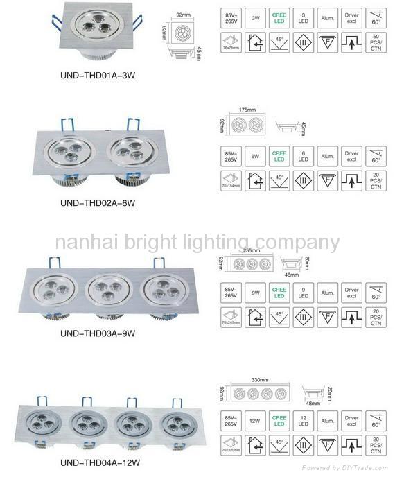 LED light  LED down light  LED ceiling light  commercial light LED track light 1