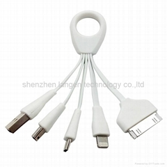 ring four in one Multifunctional data connecting usb