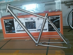 Titanium MTB bicycle frame