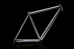 Titanium road bicycle frame