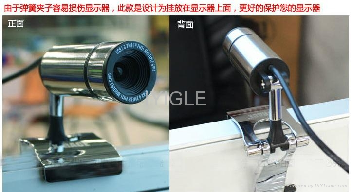 Metal usb webcam camera with microphone for computer laptop Metal PC Camera 4