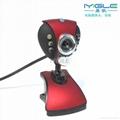 6 LED USB Webcam Web Cam driver usb pc camera clip webcam with Microphone 2