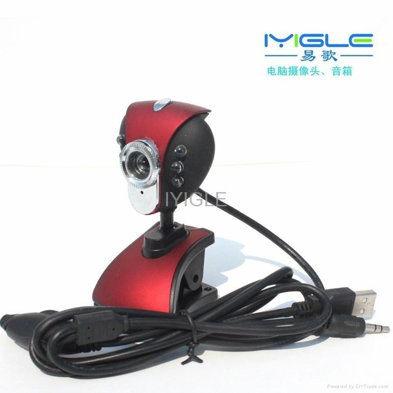 6 LED USB Webcam Web Cam driver usb pc camera clip webcam with Microphone 4
