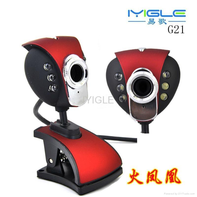 6 LED USB Webcam Web Cam driver usb pc camera clip webcam with Microphone 1