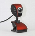 6 LED USB Webcam Web Cam driver usb pc camera clip webcam with Microphone 3