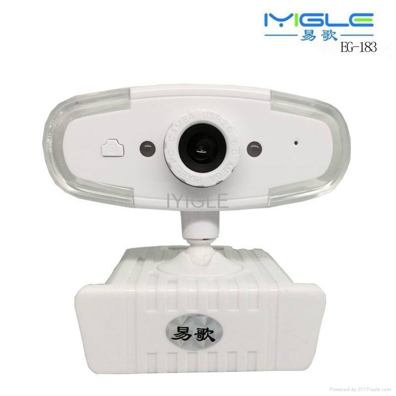 WHITE color USB PC Webcam high definition good quality webcam usb 2.0 webcam  1
