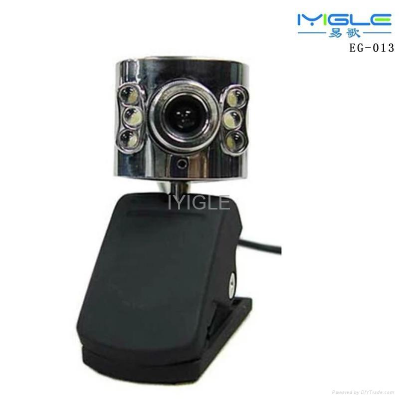 usb portable Webcam with 6LED Lights for computer/Web Cam PC Camera WebCam HD 1
