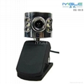 usb portable Webcam with 6LED Lights for