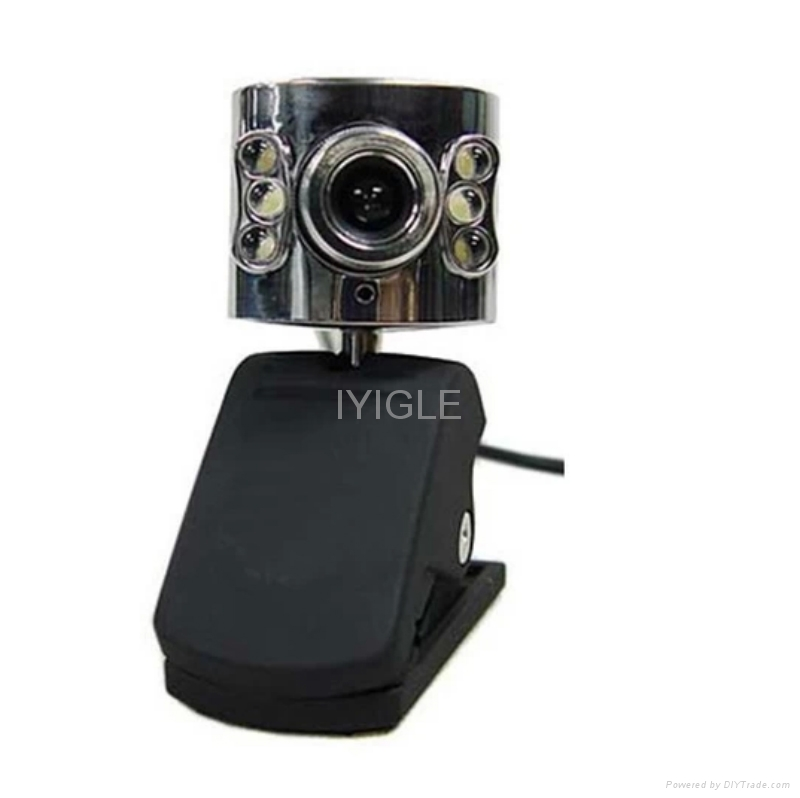 usb portable Webcam with 6LED Lights for computer/Web Cam PC Camera WebCam HD 4
