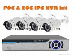PoC & EoC IP Cameras & NVR Security System