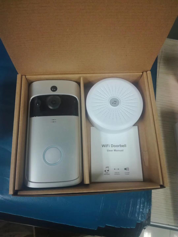 WiFi Doorbell Intercom Two-way Audio Wireless 720P Security Camera Alarm 5