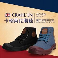 2014秋季新品卡翰高帮帆布鞋