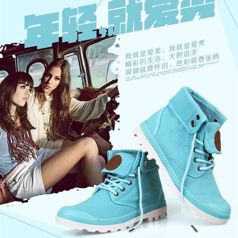 2014秋季新品卡翰高帮帆布鞋 3