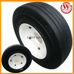 airport luggage cart 4.00-8 solid tire 3.75 rim