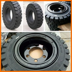 Unicarriers Forklift Parts Solid Tires 250-15 18x7-8