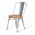 Marais Metal Tolix Chair With Wooden Seat/ Antique Steel Tolix Chair/High Back A 1