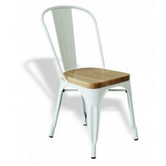 ... Marais Metal Tolix Chair With Wooden Seat/ Antique Steel Tolix Chair/High  Back A ...